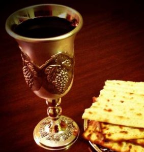 Passover Meal: Cup and Unleavened Bread