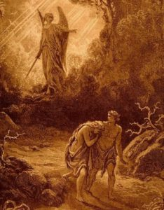 Adam and Eve Expelled by Gustave Dore
