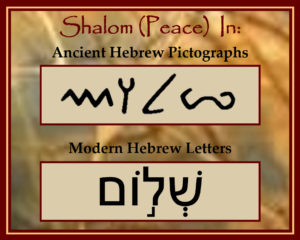 Shalom in Pictographs