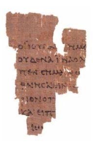 Bible Papyrus 52: John 18