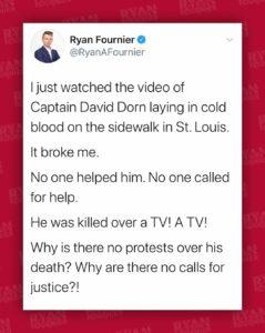 Questions | Tweet Protesting Death of David Dorn