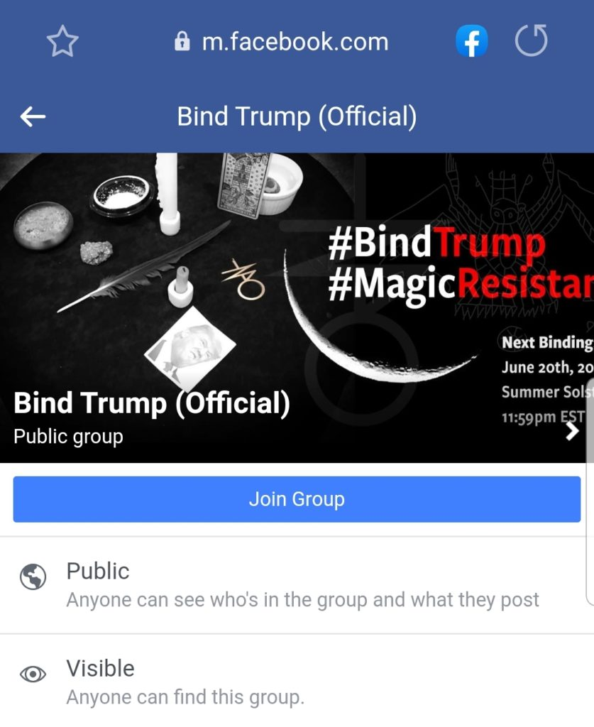 Bind Trump (Official) Facebook Group