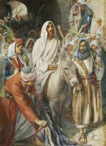 Christ's Entry Into Jerusalem by Harold Copping