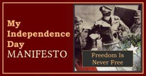 My Independence Day Manifesto